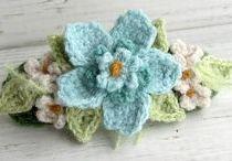 Crochet Flowers, Leaves