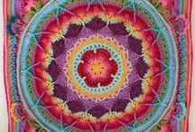 Sophie's Universe and other mandala afghans