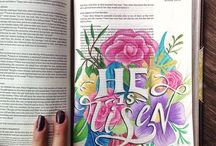Bible Journaling / Examples of how others have brought visual beauty to God's word.