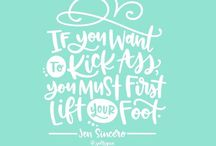 Witty Lettering / Beautiful phrases that make you lol