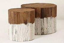 Interior Wood, White and Stone