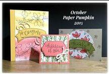 Paper Pumpkin / Ideas for Paper Pumpkin kits, cards, boxes, memory keeping