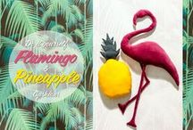 Ambiance Flamant rose & Ananas & Végétation exotique ! Pinneapple and Flamingo party !