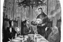 Addams Family Christmas Dinner / Ideas for our gothic Christmas Eve dinner party.