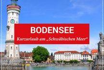 """Kurzurlaub Bodensee / Die Region Bodensee zählt zu den schönsten Urlaubsregionen Deutschlands und Europas. Gelegen im Alpenvorland, gilt das """"Schwäbische Meer"""", gemessen am Wasservolumen, als zweitgrößter See Mitteleuropas. Hier bieten sich nicht nur vielfältige Aktivitäten zu Wasser an – auch mit attraktiven Städten wartet die Bodenseeregion auf und sorgt für interessantes Sightseeing und vielfältige Unternehmungsmöglichkeiten."""