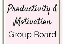 Motivation and Productivity Group Board / Everything you need to conquer your day, your week and your life — productivity tips, motivation, inspiration, goal setting, time management, personal development, planners, success stories, etc, etc! Unrelated content will be deleted. Pin as often as you want, but no spam. Please repin two pins for every pin you save to the board. To be added, follow me (overthinkersnotebook) and DM me your Pinterest email!