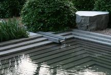 Water garden / My favourite water features & garden ponds.  Contemporary garden design with reflecting ponds and streaming water. #water #garden #design #pond / by Emilie Van Vliet Lundblad