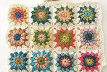 Mormorsrutor / crochet granny squares