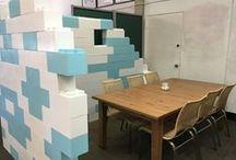 Modular Walls & Room Dividers / Take a look at our modular walls, created using Everblock Modular Building Blocks.