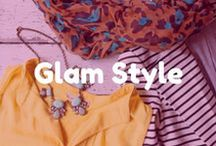 Glam Style / Look for sparkle, leopard, and bright bold colors. Glam style can also be seen in luxe, heavy fabrics like faux fur, layers of tulle and satin.