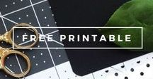 Embrace   Free Printables / A collection of beautiful free printables to help you get organized and decorate your life! Perfect for the busy mom, wife, student, or professional.