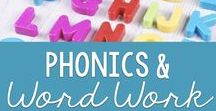 Phonics / Phonemic Awareness / Sight Words / Word Work / Teaching Reading Foundational skills through interactive charts, notebooks, and graphic organizers, and utilizing direct instruction strategies of phonics and phonemic awareness, word work, and sight words.  Creative and useful activities for small reading groups.