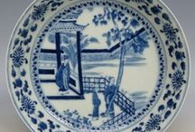 Chinese Blue & White 青花 / The classic Chinese combination of white pottery and porcelain decorated under the glaze with a blue pigment: Beautiful * Decorative * Functional. / by LauraH