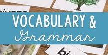 Vocabulary, Grammar, & Sentence Structure / Activities, lessons, and ideas to develop the Common Core Language Standards for elementary.  Includes ideas for vocabulary, grammar, and sentence structure.