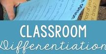Differentiation in the Classroom / How do you meet the needs of all your learners?  Differentiate learning so that students have access to the content and are supported to meet standards.  Differentiate instruction and encourage accountability talks. Ideas include anchor charts, activities, task cards, test prep, and lessons that help students work on speaking and listening standards.