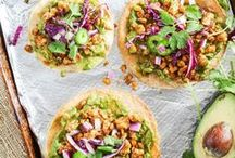 Mexican-Inspired Vegan Recipes / Kick your Mexican food craving to the curb with an amazing vegan taco, burrito, tostada, taquitos etc.  These healthy options are filled with tofu, beans, rice, jackfruit, lentils and more...