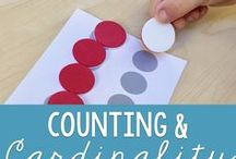 Math: Counting & Cardinality / Math tips and resources to develop counting skills and cardinality.  Perfect for preschool and kindergarten students who need to develop those math skills.