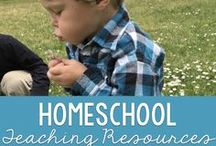 Homeschool Teaching Resources / Teaching resources for homeschool families.  Fun activities that make learning fun and inviting.