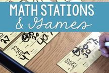 Math Stations & Games / Math games, math stations and math centers galore.  Fun, engaging activities for your students to learn elementary math concepts.