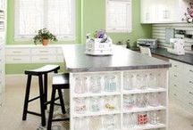 STUDIO • HOME OFFICE • CRAFT ROOM / home office | home studio | crafting rooms | sewing spaces | design ideas | home decor | organization