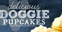 DOG PUPCAKES / Birthday. Holiday. Or just because. A great variety of cupcakes, homemade, hand-decorated treats and more for your dogs special occasion. #threespoileddogs #pupcakes