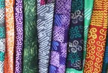 Inspired by Fabrics / All of our fabrics are hand dyed batik.