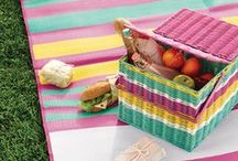 Let's have a picnic / stunning views, humming bees, a basket full of delicious goodies...!
