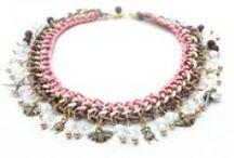 Necklaces / Naszyjniki z łańcuszków , rzemieni , koralików ....