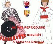 Costumes traditionnels de France (sous copyright) / Je tiens à faire comprendre aux gens qui volent mes dessins, qu'ils sont MA propriété intellectuelle exclusive.Vous pouvez partager mes PAGES, non les dessins SEULS. Merci