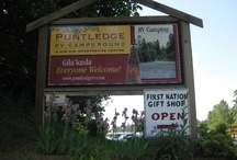 Puntledge RV Campground & Nim Nim Interpretive Centre / The Puntledge RV Campground is located in the traditional territory of the Comox First Nation and provides a safe, natural, family camping experience which incorporates the historic and cultural traditions of the Comox People.  Located adjacent to the Puntledge River, a five minute walk from downtown Courtenay, the campground includes the Nim Nim Interpretive Centre and I-Hos Gallery Kiosk.