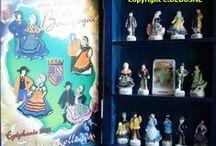 Fèves, broderies et créations sur le Costume traditionnel de France / Diverses créations dont je suisl'auteure sur le thème du Costume Folklorique de France. Livres, fèves, kits de broderies, nains de jardin, posters, calendrier. Je suis à la recherche de patrenaires commerciaux