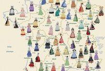 Cartes de France des Costumes traditionnels / Cette Carte des Costumes a été conçue par moi, pour un Kit de broderie, fabriqué par LUC Créations. Elle est sous Copyright et ne peut-être reproduite sans mention du nom de sa créatrice, et de la Société qui la commercialise. Je la retrouve, illicitement diffusée, par milliers sur le Net ! Vous pouvez faire connaître mes PAGES, mais ne PAS diffuser mes dessins, soumis à Copyright