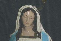 """La statue de la Vierge d'Evans / L'une de mes """" oeuvres"""" a été la restauration de la statue de la Vierge d'Evans, petit village du Jura où j'ai vécu quelques années"""