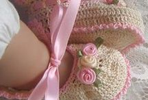 Baby kleding / Patronen van mutsjes, slofjes, dekentjes etc.