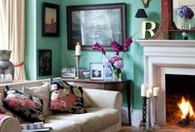 Interiors: Living Room - Teal