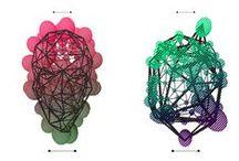 MOLECULAR HEAD EXPERIMENTS / I was playing with atom array-like digital heads.