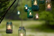 Summer Outside Decor / Creative ways to decorate for those parties, family gathering, and nights spent under the stars.