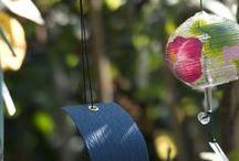 Dzwoneczki wiatrowe - Furin / Dzwonki na których gra wiatr. Japońskie, ręcznie malowane dzwoneczki z dmuchanego szkła Furin, metalowe, ręcznie robione dzwonki Iwachu. Uczta dla oka i ucha :)