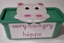 Very hungry hippo / Nauka przez zabawę do tematu Food.