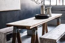 Wooden Tables / Traditional, modern and genre defining.  Featuring Mia Marquez designs.