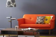Living room - bold colours / Bold soft furnishings to add some colour to your collection.