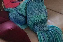 mairmaid meerjungfrau arielle crocket / decke blankett und torte