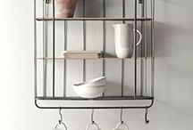 Kitchen - rustic shelves / Rustic Kitchen ideas and shelves | Reclaimed wood, oak, metals.