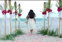 Setting the Scene - Tropical Weddings / Scene setting ideas to steal for your own. Luxurious Pacific weddings, holidays, or the ultimate honeymoon - see us at www.nautilusresortrarotonga.com