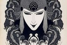 Artist_Lodygin Sergey / Russian artist, (1892 - 9.06.1948)  Сергей Павлович Лодыгин, русский Обри Бердслей