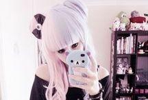 // fashion: pastel goth //