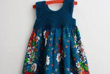 Örgü elbise / Motif örgü kumaş elbise