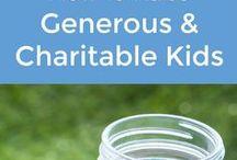 Generosity & Charity / A board about teaching kids about generosity and charity