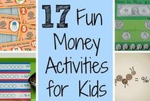 Money Games for Kids / A board about kids money games, to teach kids about money.