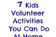 Kids Volunteering / A board about getting kids involved in volunteer work.